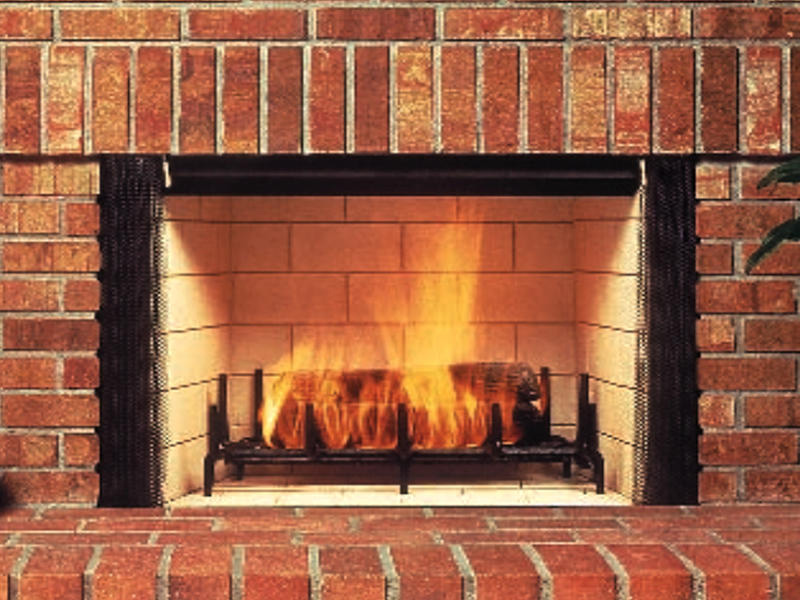 Masonry for Wood burning fireplace construction