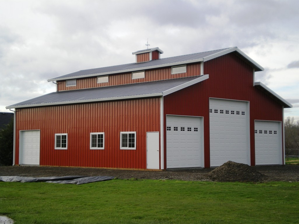 Pole buildings garages for Barn house designs