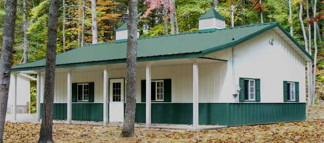 Pole buildings garages for Steel pole house designs